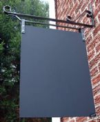 Wall Mount Advertising Menu Chalk Black Swing Board